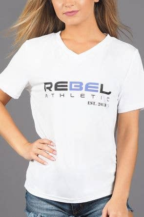 Rebel Athletic Est. 2013 Premium Tee Shirt in White and Ultraviolet - FINAL SALE
