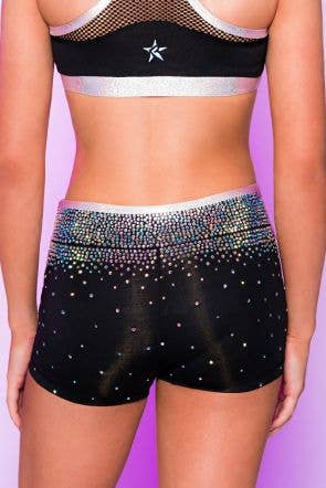 Ainsley Compression Shorts in Prism Rose Gold - Girls