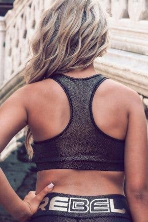 On the Go Sports Bra in Gold FusionFlex