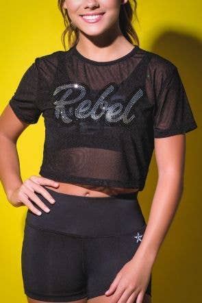 Don't Mesh With Me Crop Top - Girls - FINAL SALE