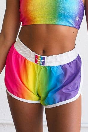 On The Go Sport Short in Rainbow
