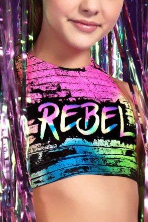 Kiah Sports Bra in Rainbow Brick - Girls