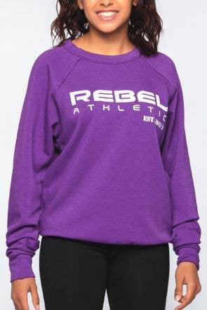 Rebel Athletic Sweatshirt in Purple