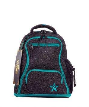 imagine baby rebel dream bag - cute black and teal mini cheer bag