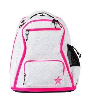 light grey pink cheer bag