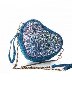 blue crystal crossbody bag