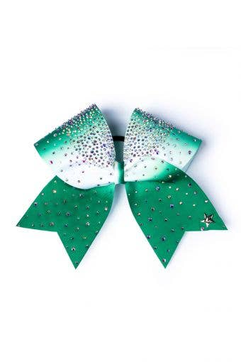 BOW - Green/White with Tails