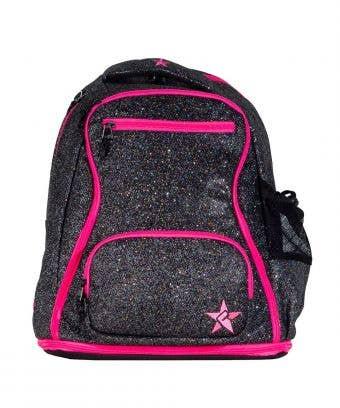 black pink backpack