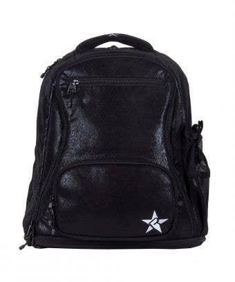 black leather backpack