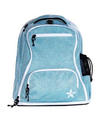 teal diamondnet backpack