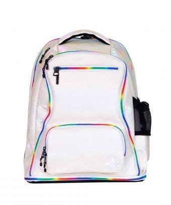 Opalescent Leopard Rebel Dream Bag with Rainbow Zipper