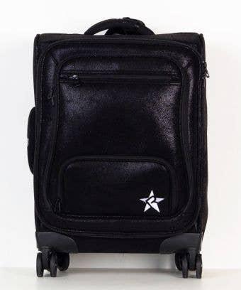 Black Faux Suede Rebel Dream Luggage