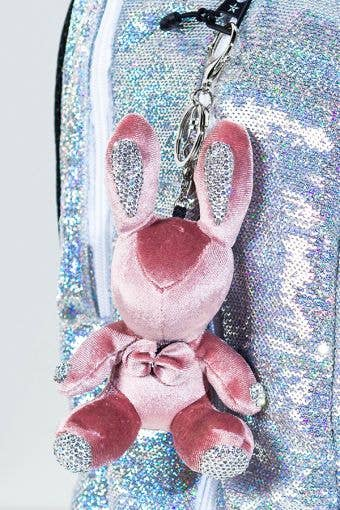 Rebel Level Replica Bow Bunny Keychain in Rose Gold - adorable rose gold bunny keychain