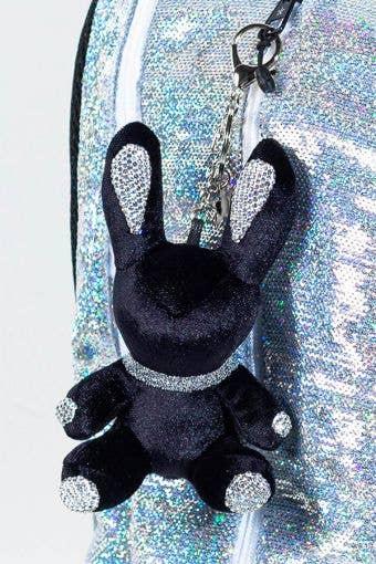 Rebel Level Replica Bunny Keychain in Black - Top Black Bunny Keychain