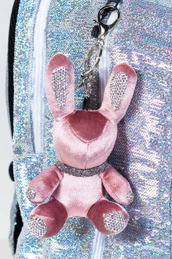 Rebel Level Replica Bunny Keychain in Pink - Cute Pink Bunny Keychain