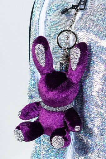 Rebel Level Replica Bunny Keychain in Purple - Purple Bunny Keychain