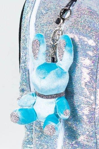 Rebel Level Replica Bunny Keychain in Turquoise - adorable turquoise bunny keychain