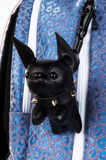 Bulldog Keychain in Black