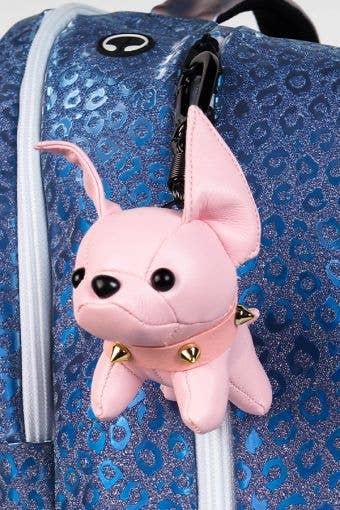 Bulldog Keychain in Pink