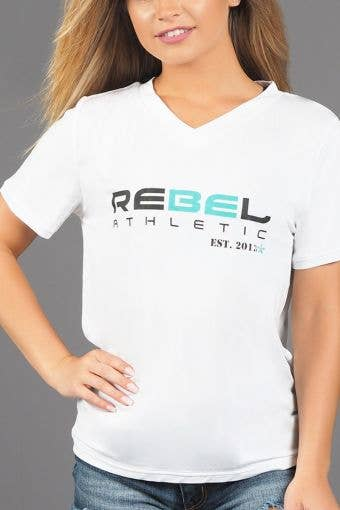 Rebel Athletic Est. 2013 Premium Tee Shirt in White and Pixie Dust - Girls - FINAL SALE