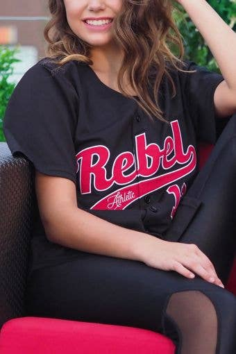 Home Run Jersey in Black and Red