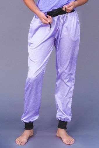 Sleepin' In Satin Joggers in Ultraviolet - Girls - FINAL SALE