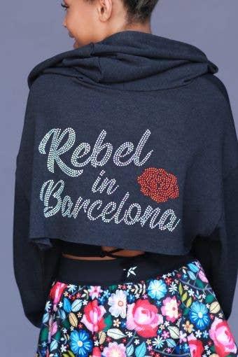 Rebel In Barcelona Front Cutout Hoodie - Girls - FINAL SALE