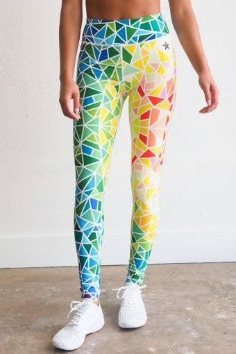 Legendary Legging in Neon Mosaic - FINAL SALE