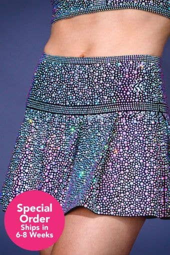 Crystal Couture Flouncy with Opalescent Crystals - Special Order - Girls