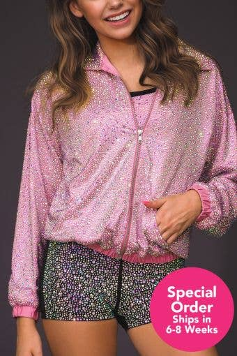 The Rosie Crystal Couture Jacket - Special Order - Girls