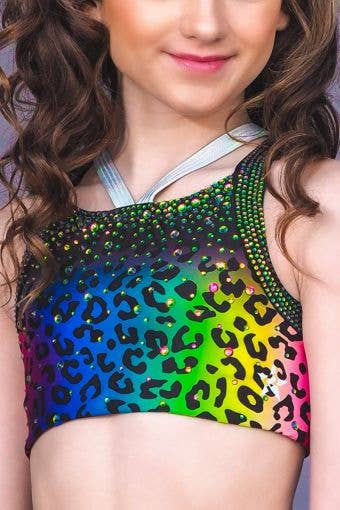 CRYSTAL COUTURE Wild at Heart Sports Bra *Special Order - Girls
