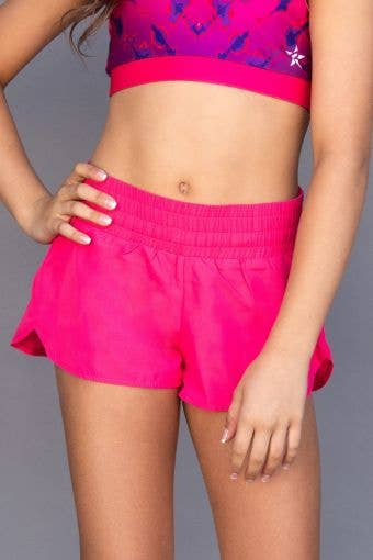 Sport Short in Power Pink - Girls