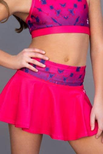 Legendary Flouncy Skirt in Power Pink Tie Dye - Girls - FINAL SALE