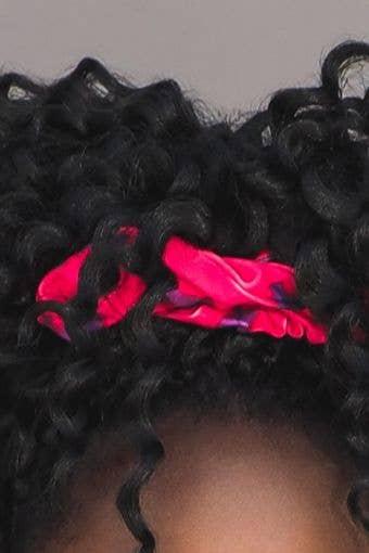 Scrunchie in Power Pink Tie Dye
