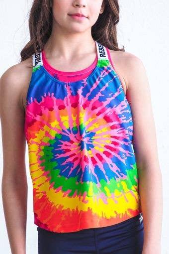 Mesh Back Tank in Tie Dye - Girls - FINAL SALE