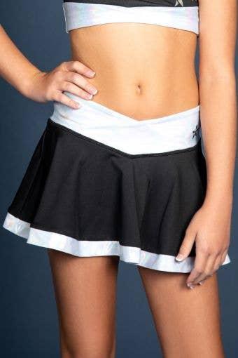 LuxWaist Flouncy Skirt in Black Starstruck - Girls
