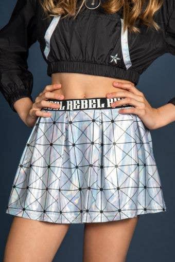 High Rise Flouncy Skirt in Geometric Glam - Girls