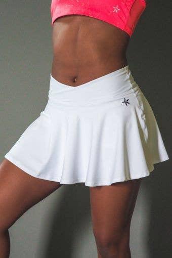 LuxWaist Flouncy Skirt in White - Girls