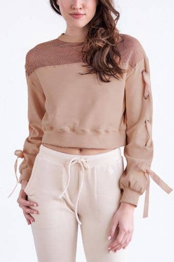 Tranquility Cropped Pullover in Espresso