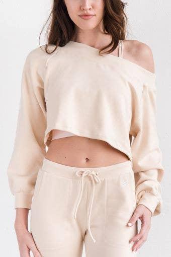 Unwind Pullover in Cream