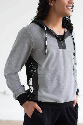 Athletic Hoodie in Grey