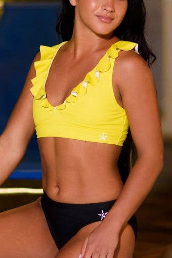 Wavey Bikini Top in Yellow