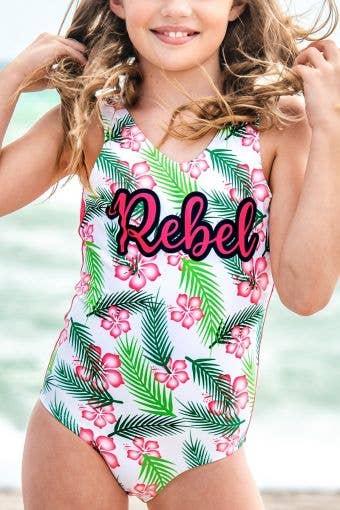 Palm Queen One Piece Swimsuit - Girls