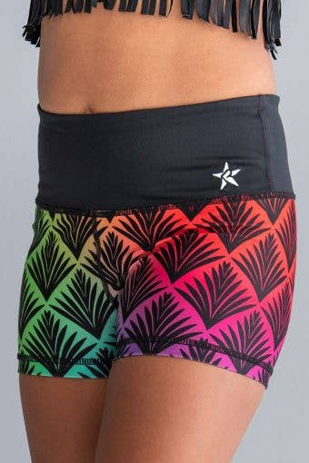 Mid-Rise Compression Short in Gatsby Glam - Girls