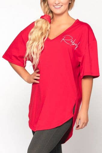 Cozy Shirt Dress in Red