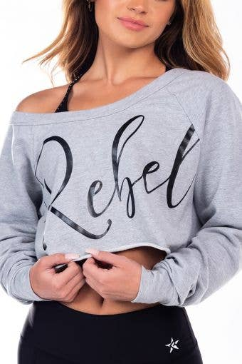 French Terry Pullover in Grey Slouch