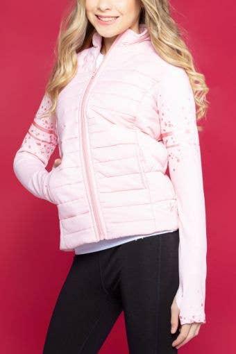 Luxury Puffer Jacket in Rose - Girls
