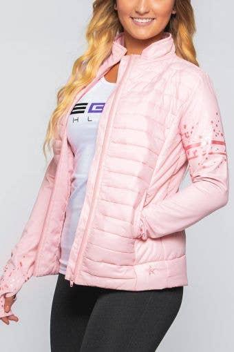 Luxury Puffer Jacket in Rose