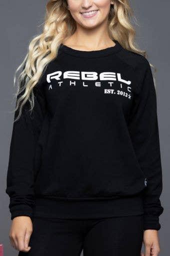 Rebel Athletic Sweatshirt in Black