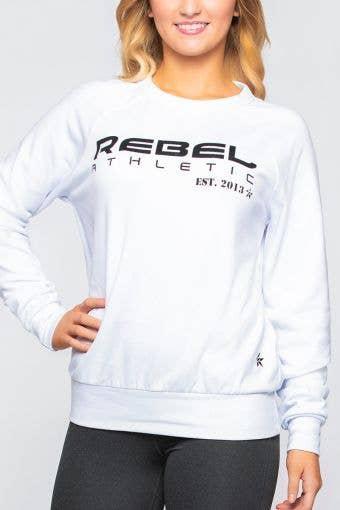 Rebel Athletic Sweatshirt in White